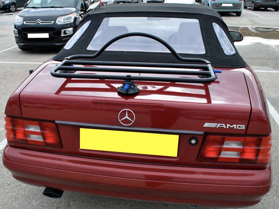 revo rack luggage rack fitted to red r129sl mercedes benz