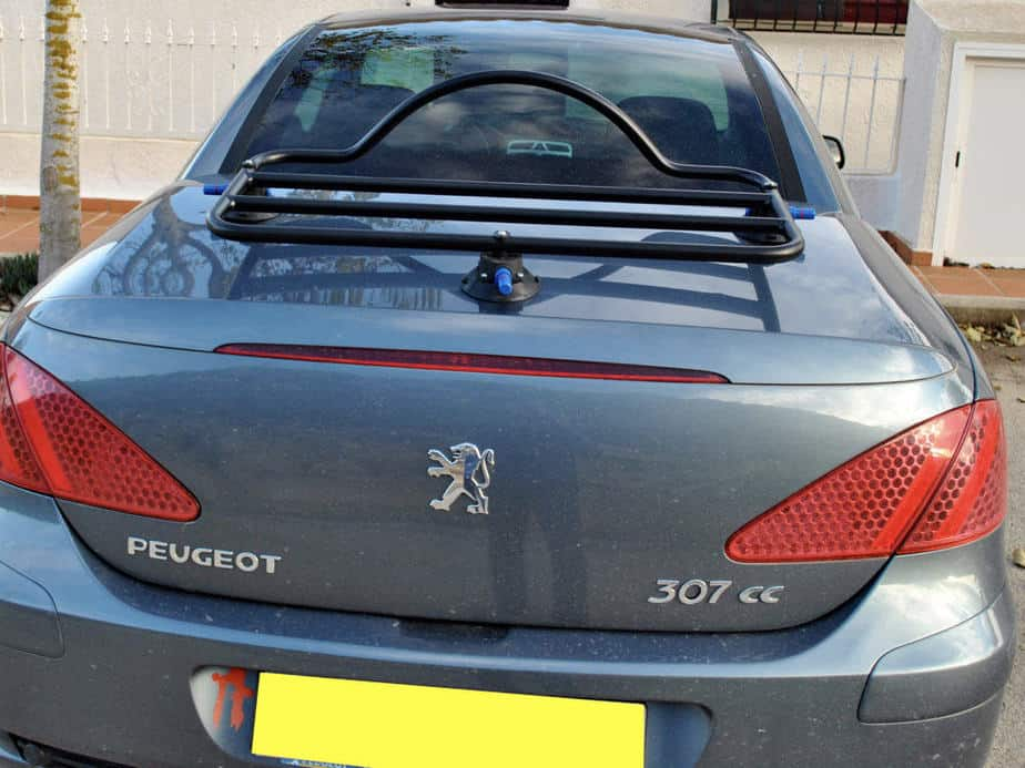 black luggage rack fitted to 307cc