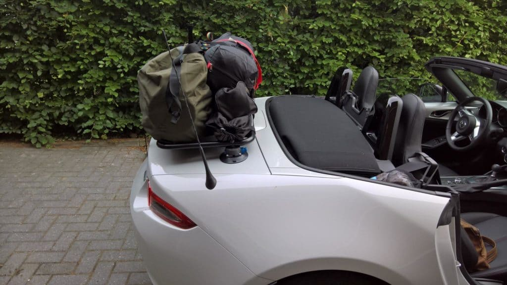 mazda mx5 nc trunk luggage rack review
