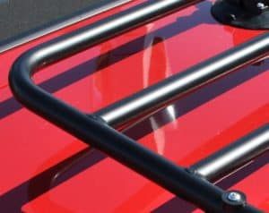 Abarth 124 Spider Luggage Rack close up