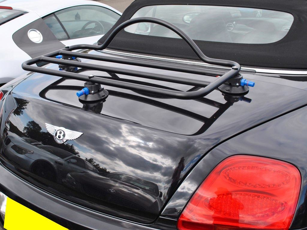 Bentley Luggage Rack revo rack fitted to black continental gt convertible