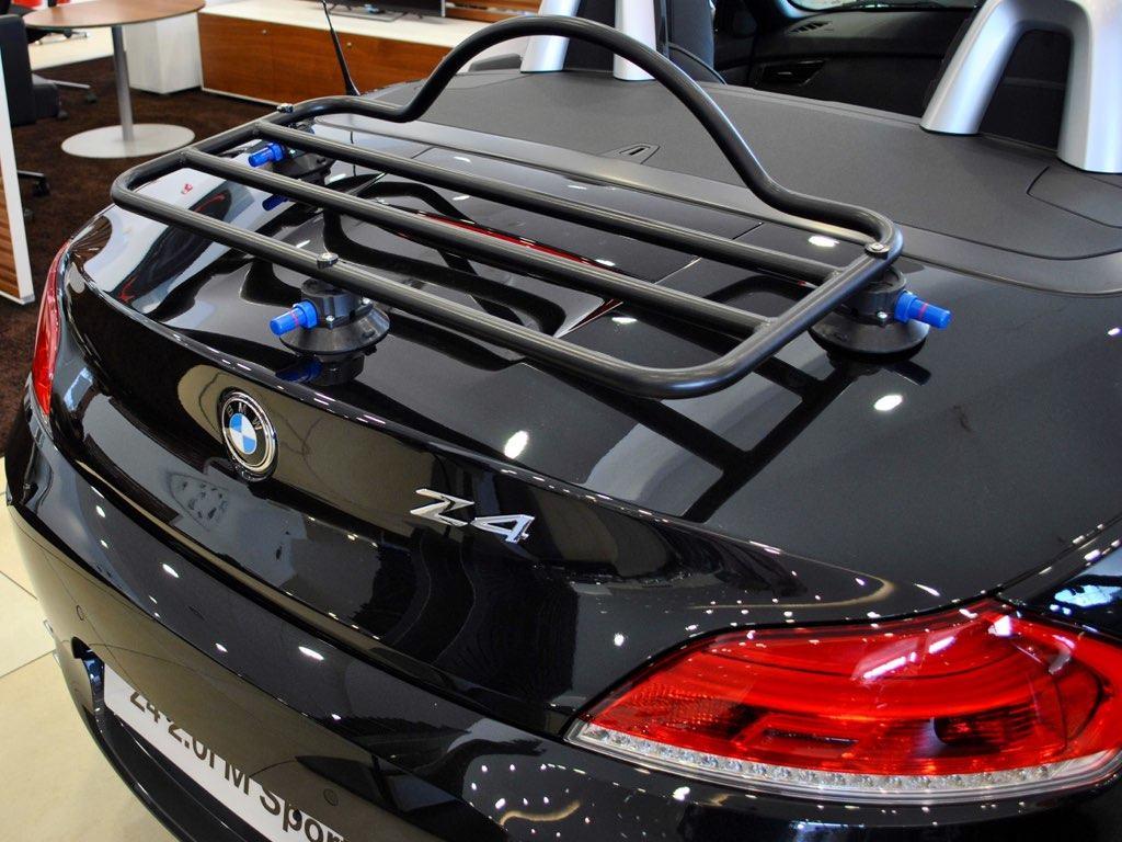 BMW Z4 Boot Rack fitted to a black bmw z4