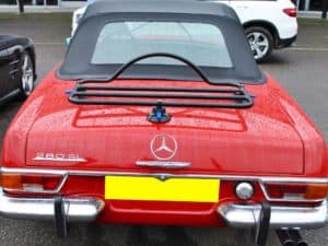 Car Boot Rack - Revo Rack fitted to 1969 Mercedes SL