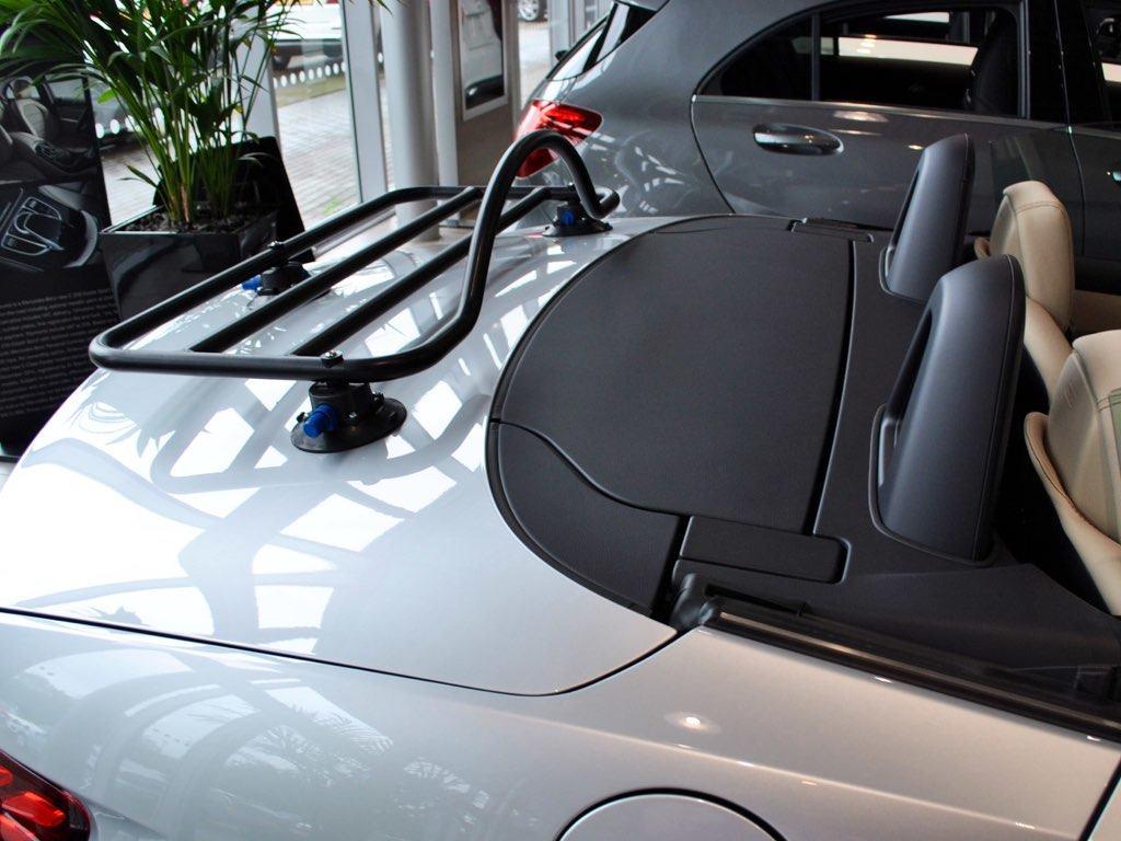 Mercedes SLC Luggage Rack in black on silver slc