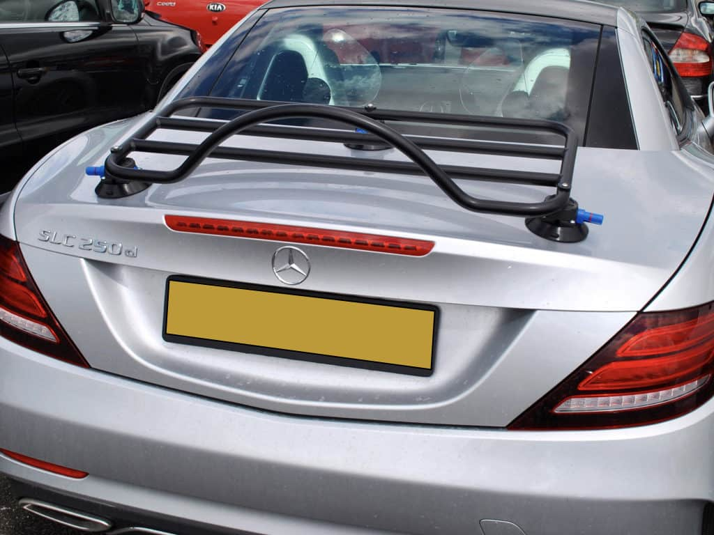 silver mercedes benx slk r172 with luggage rack fitted