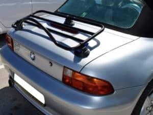 bmw z1 luggage rack revo rack fitted to silver z3
