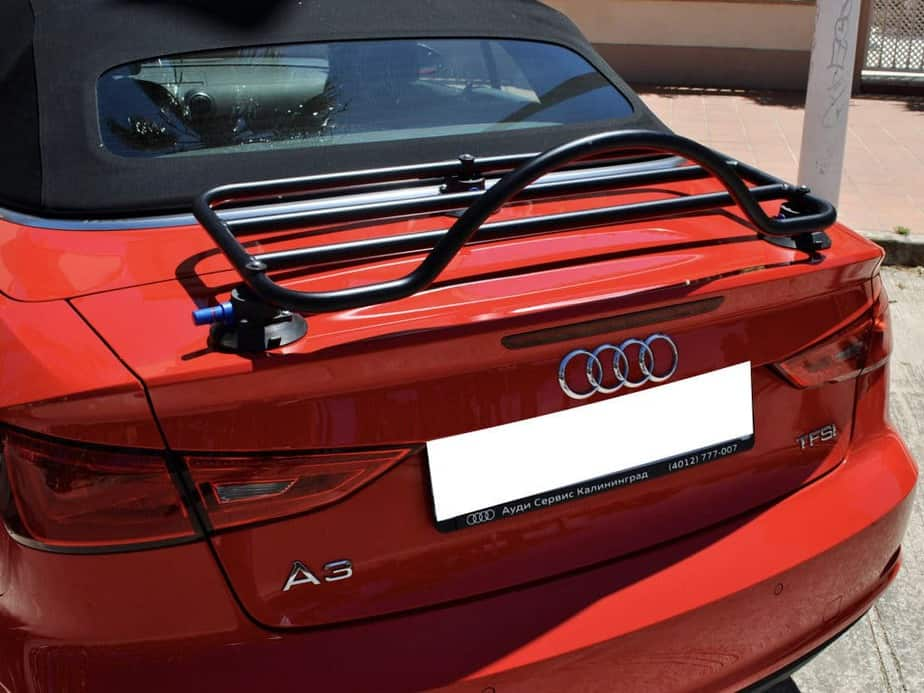 Audi A3 Convertible Luggage Rack : Revo-Rack fitted to red a3