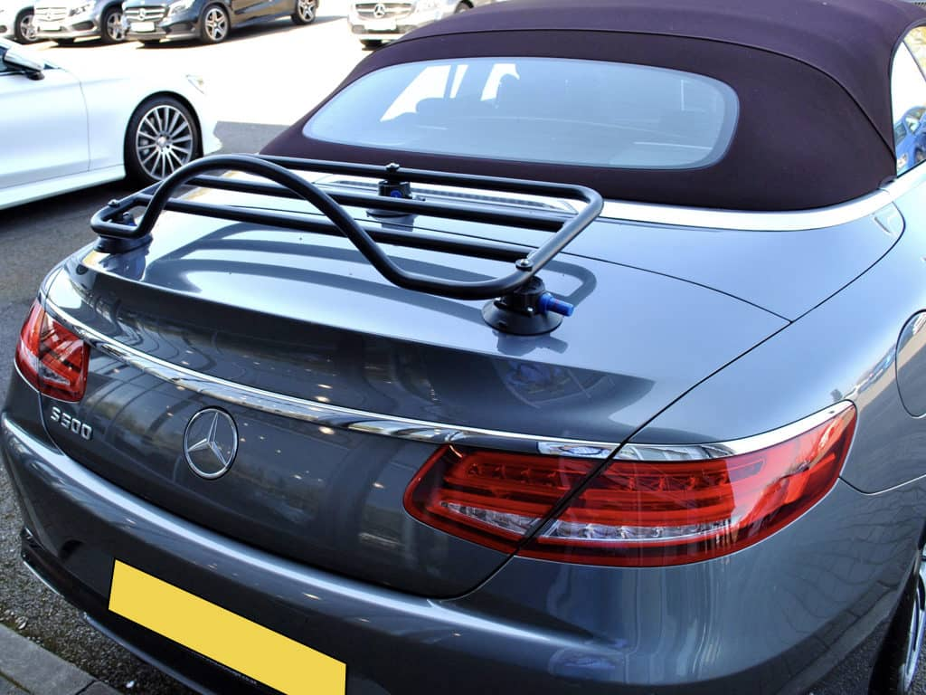 mercedes s class convertible with a luggage rack fitted it also fits the saab 900 convertible