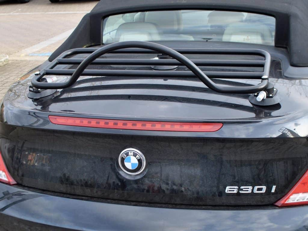black luggage rack fitted to 630i convertible also in black
