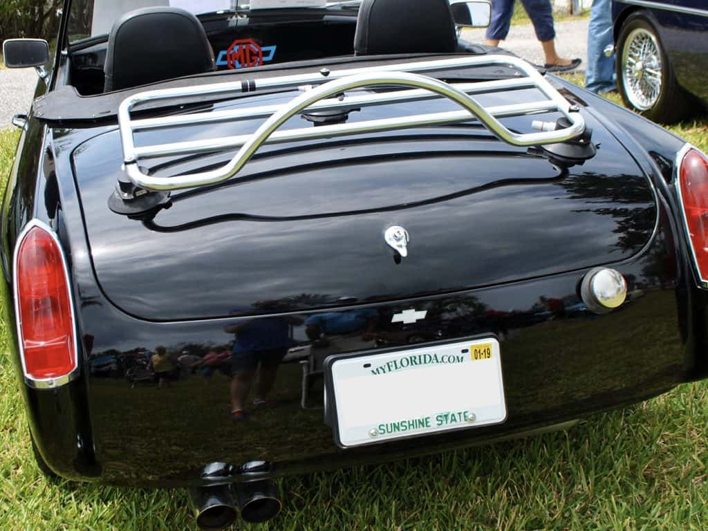 mgb stainless steel deck trunk luggage rack