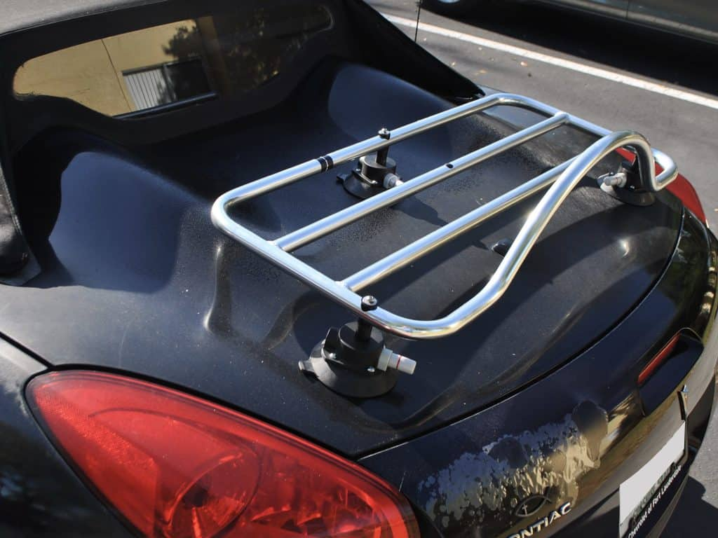pontiac solstice stainless steel trunk deck rack
