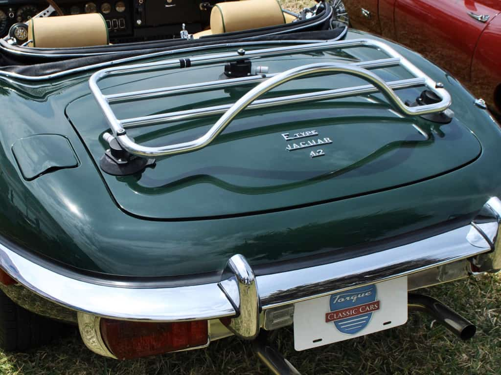 jaguar e type convertible stainless steel luggage rack