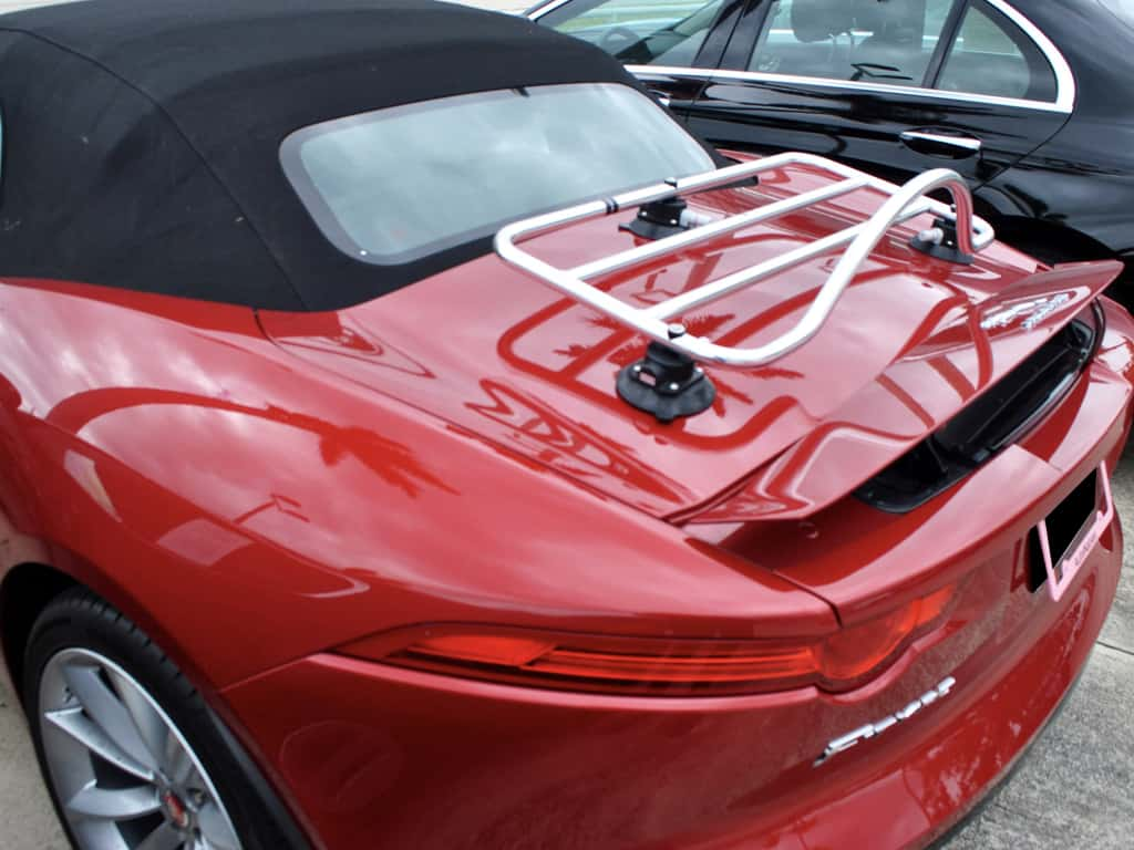 jaguar f type stainless steel luggage rack