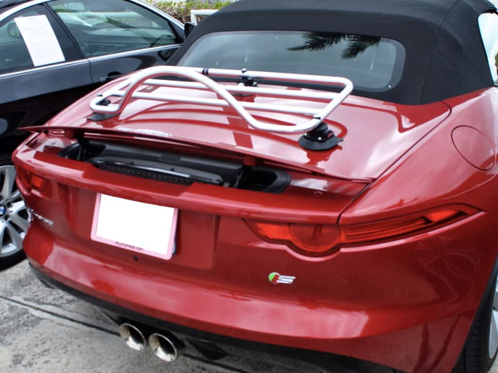 Jaguar xk convertible stainless steel luggage rack