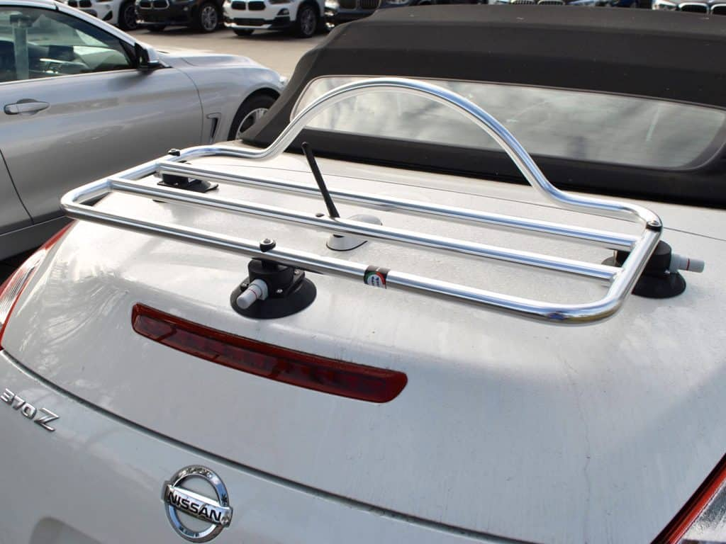 nissan 370z convertible stainless steel luggage rack
