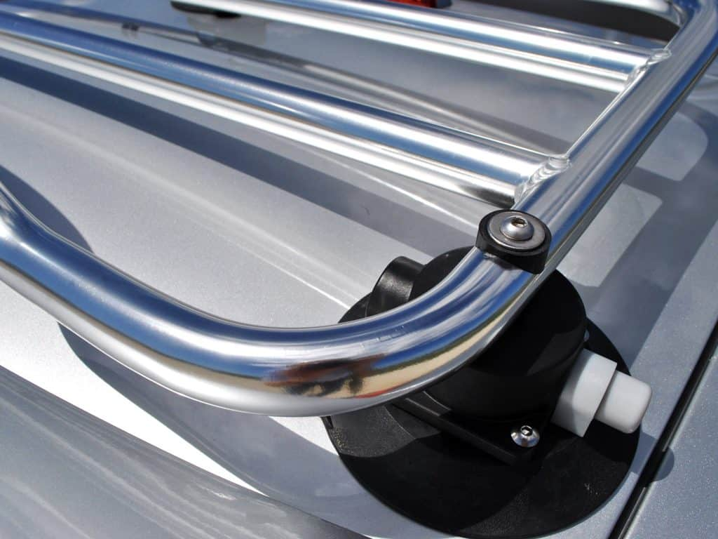 mgtf stainless steel luggage rack close detail