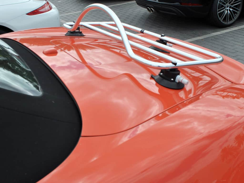 porsche 981 boxster stainless steel luggage rack