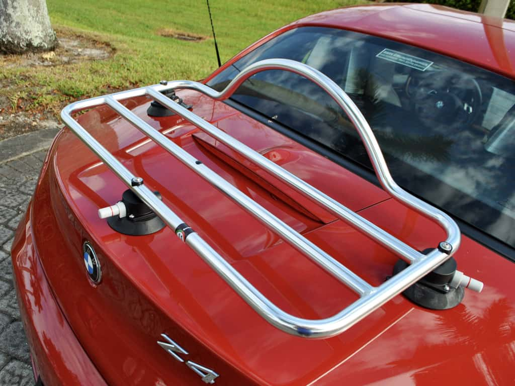 bmw luggage rack revo rack pa fitted to bmw z4 e89