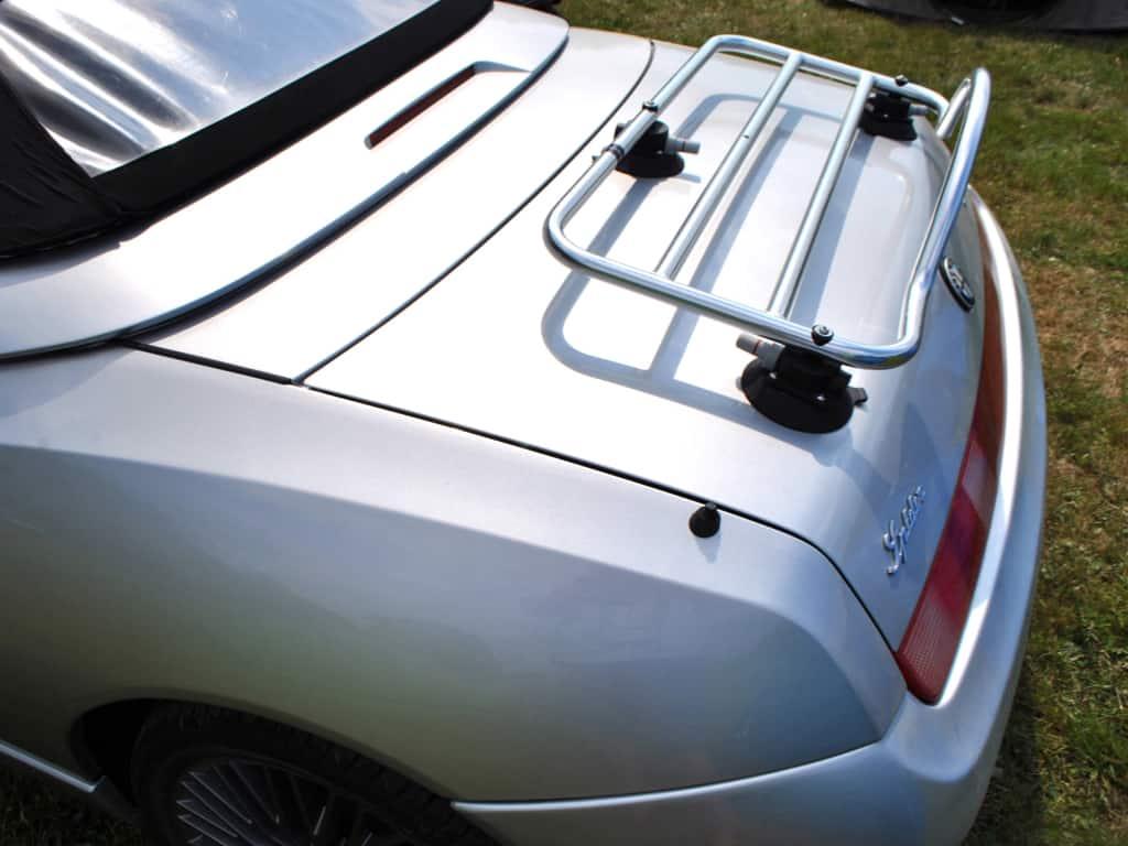 Silber 916 Alfa Romeo Spider Cabriolet mit einem Edelstahl-Gepäckträger