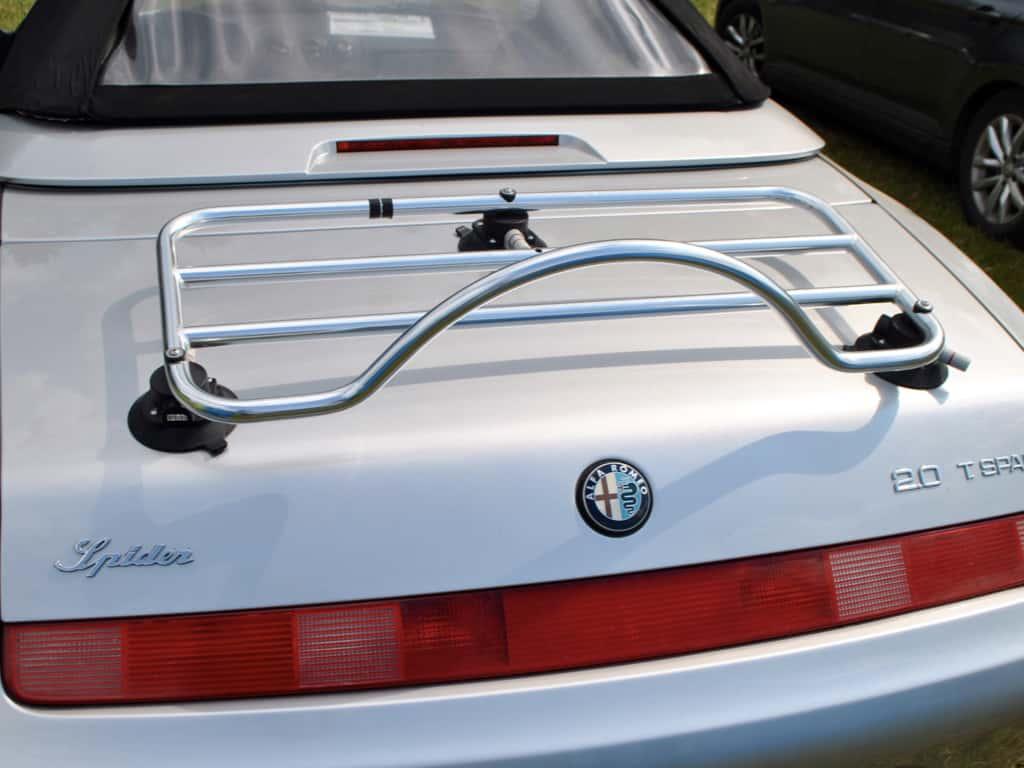 silber 916 classic alfa romeo spider cabriolet mit edelstahlgepäckträger