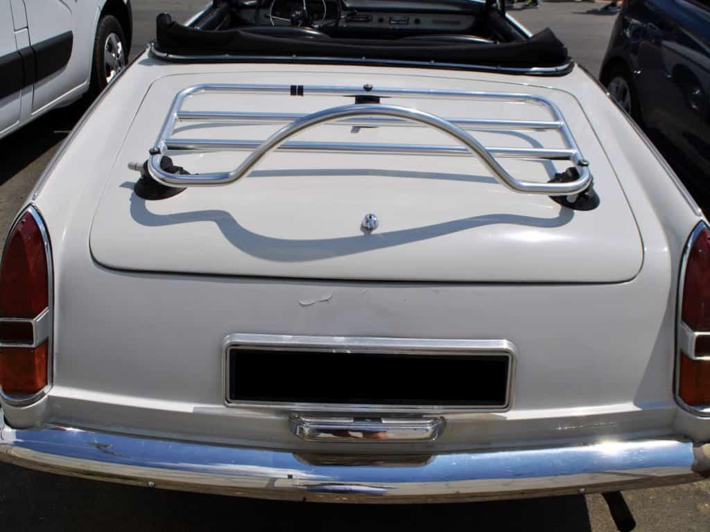 peugeot convertible classique avec porte-bagages en acier inoxydable