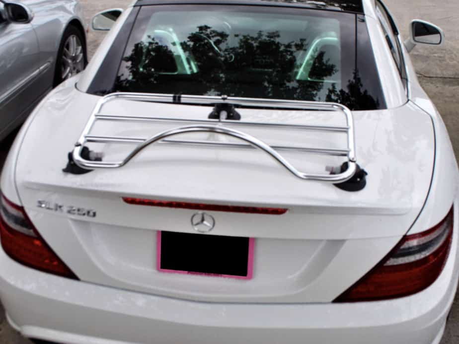 mercedes benz slk r172 stainless steel luggage rack