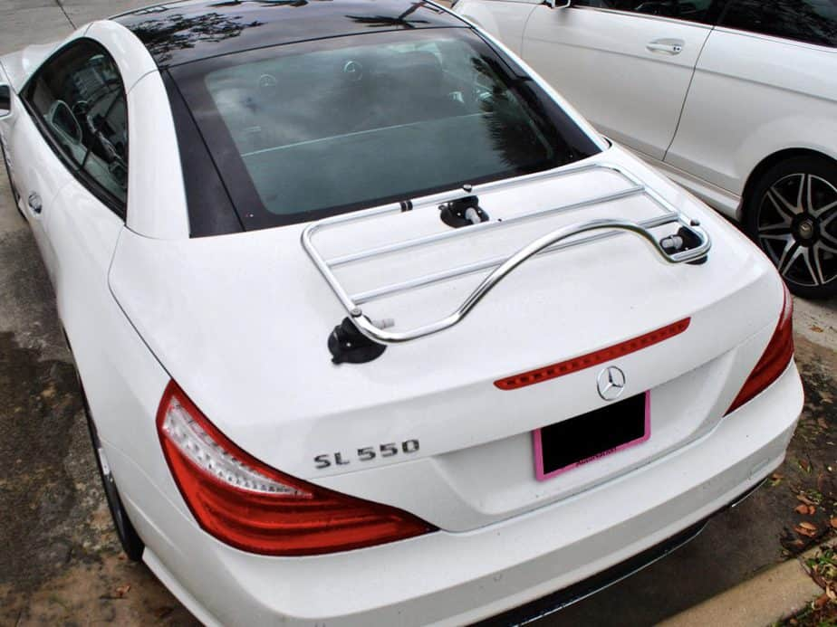 mercedes convertible luggage rack