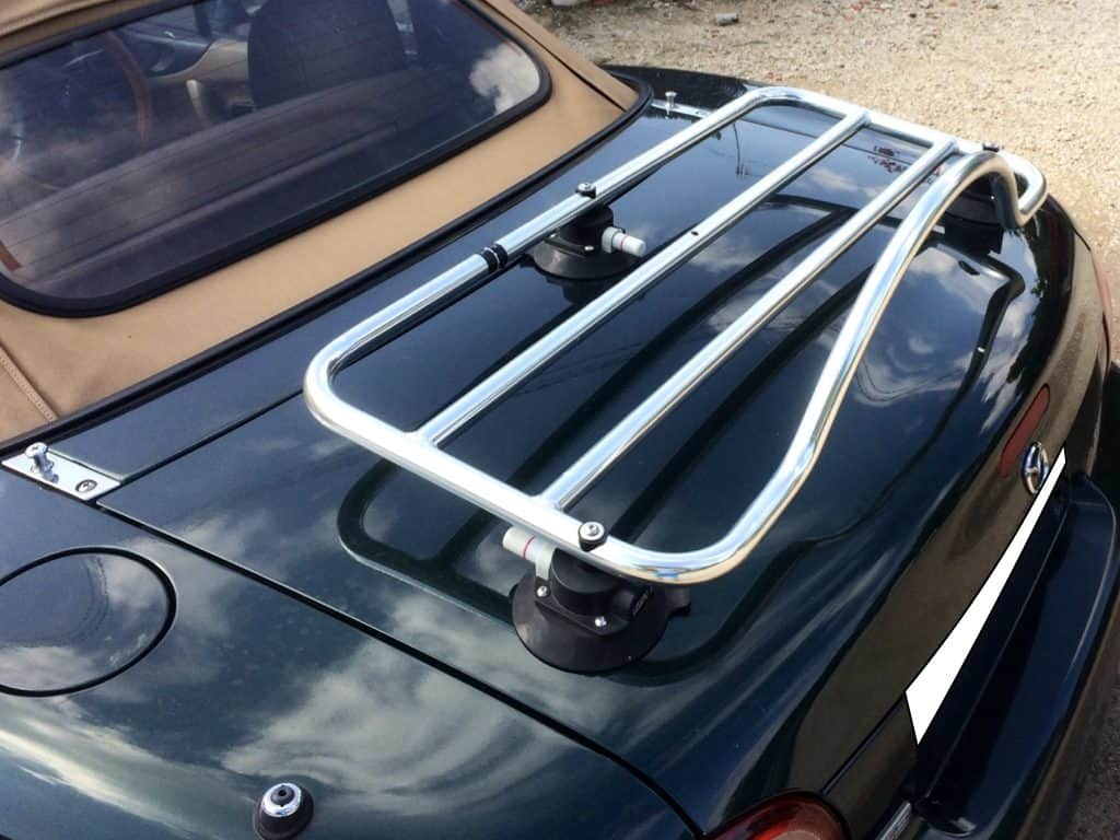 mazda mx5 mk2 miata nb stainless steel luggage rack revo rack