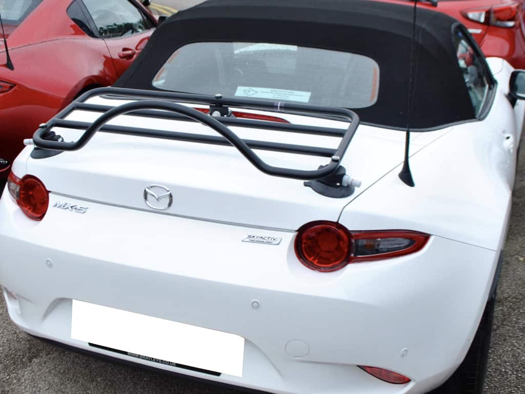 Unique Mazda MX5 Luggage Rack ; No Clamps No Brackets No Damage