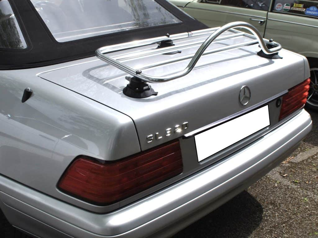 revo-rack pa luggage rack fitted to r129 mercedes benz sl
