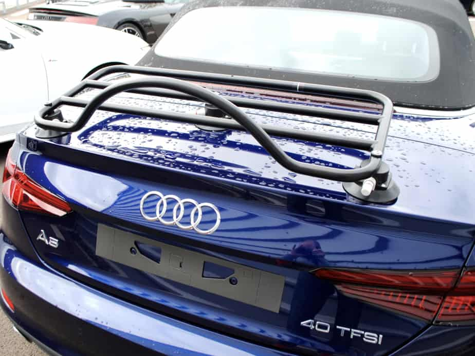 Audi A5 convertible trunk luggage rack - No metal clamps ...